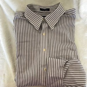 Chaps Stripped Button Up Shirt Large
